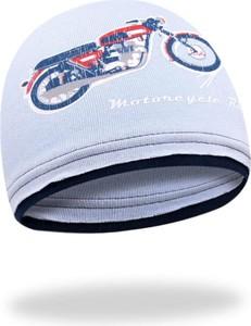 Niebieska czapka YoClub z bawełny