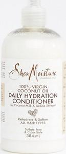 Shea Moisture - nawilżająca odżywka do włosów do codziennego stosowania z dodatkiem 100% oleju kokosowego z pierwszego tłoczenia o pojemności 384ml-Brak koloru
