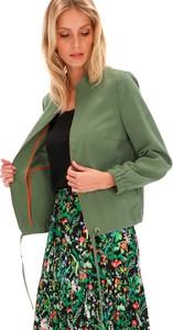 Zielona kurtka POTIS & VERSO krótka w stylu casual