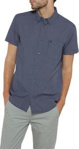 Niebieska koszula Wrangler z krótkim rękawem