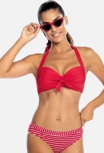 Czerwony strój kąpielowy Feba w stylu klasycznym z nadrukiem