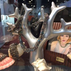 Peani Bransolteka pleciona z drobnych łańcuszków z kryształkami kolor ciemnego srebra