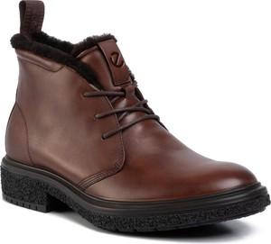 Brązowe buty zimowe Ecco