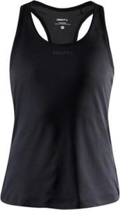 Czarna bluzka Craft w sportowym stylu z okrągłym dekoltem