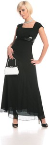Czarna sukienka Fokus z przeźroczystą kieszenią