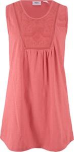 Różowy t-shirt bonprix bpc bonprix collection