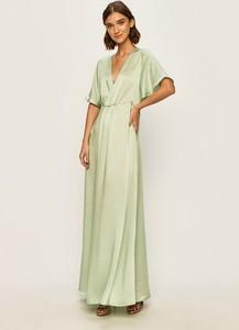Sukienka Vila z tkaniny maxi z dekoltem w kształcie litery v