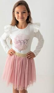 Różowa bluzka dziecięca Myprincess / Lily Grey w kwiatki z bawełny dla dziewczynek