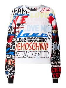 Bluza Love Moschino w młodzieżowym stylu z bawełny krótka