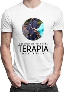 T-shirt Koszulkowy w młodzieżowym stylu z bawełny z nadrukiem