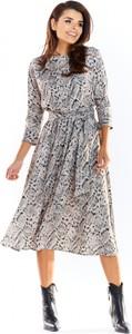 Sukienka Awama z okrągłym dekoltem