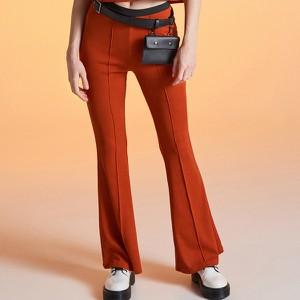 Pomarańczowe spodnie Cropp