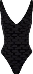 Czarny strój kąpielowy Elisabetta Franchi w stylu casual