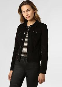 Czarna kurtka Tommy Jeans ze sztruksu w stylu casual krótka