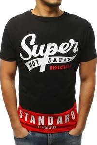 Czarny t-shirt Dstreet z krótkim rękawem z bawełny w młodzieżowym stylu