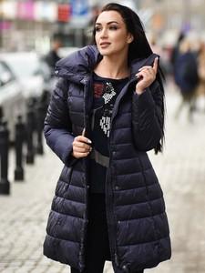 Niebieska kurtka Pregio Couture w stylu casual długa