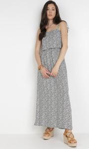 Sukienka born2be maxi trapezowa z dekoltem w kształcie litery v