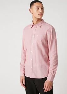 Różowa koszula Wrangler w stylu casual z klasycznym kołnierzykiem z długim rękawem