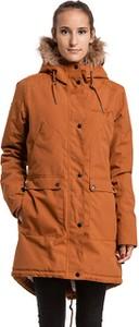Pomarańczowa kurtka Meatfly długa w stylu casual