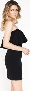 Czarna sukienka Ivon z tkaniny