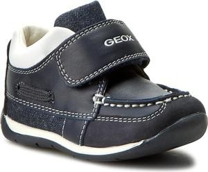 Granatowe półbuty dziecięce Geox na rzepy