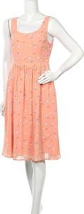 Pomarańczowa sukienka Mod Cloth mini rozkloszowana