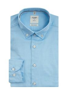 Koszula Olymp Level Five z klasycznym kołnierzykiem z tkaniny z długim rękawem