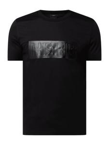 Czarny t-shirt Hugo Boss z bawełny z krótkim rękawem