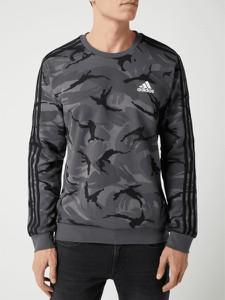 Bluza Adidas Performance z bawełny w militarnym stylu