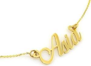 Lovrin Złoty naszyjnik 585 celebrytka z imieniem Asia 2,15 g