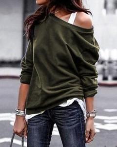 Bluzka Kendallme z bawełny z długim rękawem