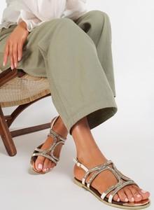 Sandały Renee ze skóry ekologicznej w stylu casual z klamrami