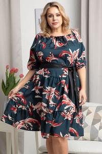 Sukienka KARKO z długim rękawem mini z tkaniny