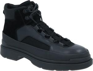 Czarne buty zimowe Calvin Klein w sportowym stylu sznurowane