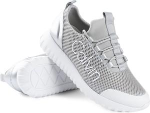 Sneakersy Calvin Klein sznurowane na koturnie