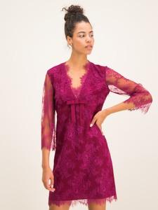 Różowa sukienka Twinset mini z długim rękawem