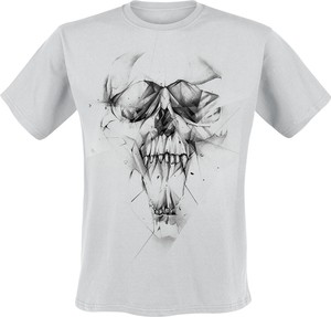 T-shirt Emp z bawełny z krótkim rękawem
