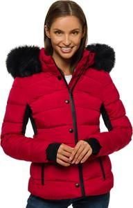 Czerwona kurtka Ozonee z kapturem w stylu casual