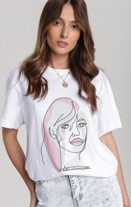 T-shirt Renee z nadrukiem z okrągłym dekoltem