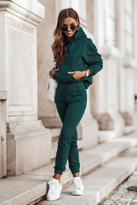 Zielony dres Moda Dla Ciebie z bawełny