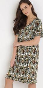 Sukienka born2be prosta mini z krótkim rękawem