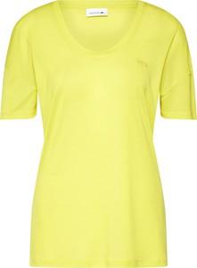 Żółta bluzka Lacoste z dżerseju z krótkim rękawem