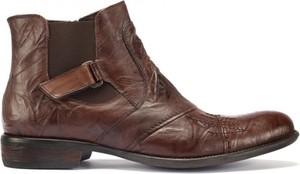 Brązowe buty zimowe Domeno na rzepy