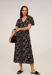 Sukienka Mango midi z tkaniny w stylu casual