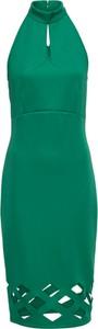 Zielona sukienka bonprix BODYFLIRT boutique bez rękawów