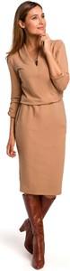 Brązowa sukienka MOE z bawełny