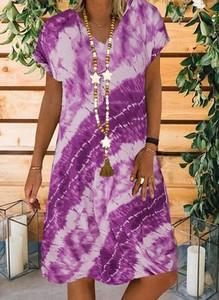 Fioletowa sukienka Sandbella