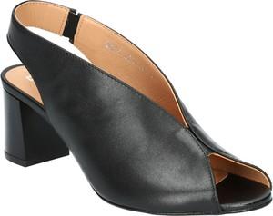 Sandały SIMEN w stylu klasycznym na obcasie na średnim obcasie