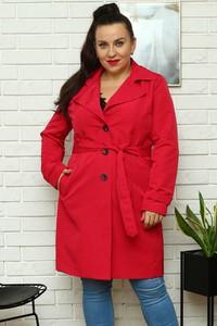 Czerwony płaszcz KARKO w stylu casual