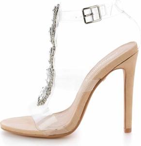 Sandały Prima Moda na szpilce z klamrami na wysokim obcasie
